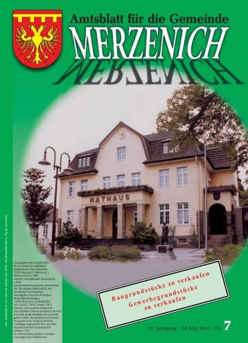 Nr. 07/2011, erschienen am 24.06.2011 - Gemeinde Merzenich