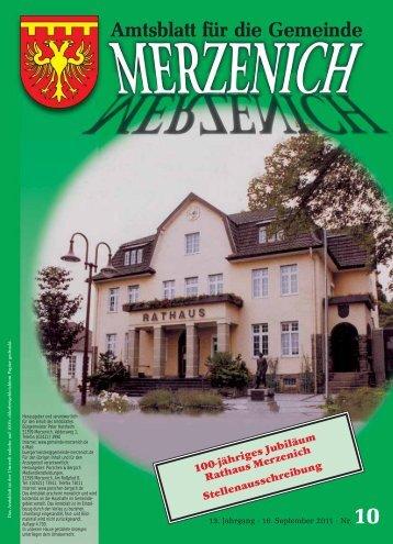 Nr. 10/2011, erschienen am 16.09.2011 - Gemeinde Merzenich