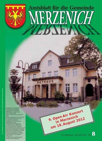 Nr. 08/2012, erschienen am 20.07.2012 - Gemeinde Merzenich