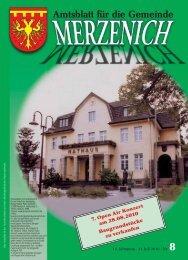 Nr. 08/2010, erschienen am 23.07.2010 - Gemeinde Merzenich