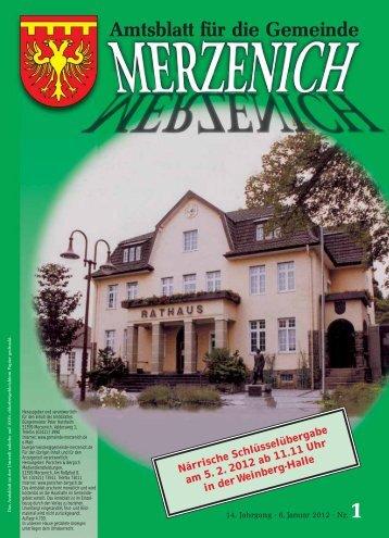 Nr. 01/2012, erschienen am 06.01.2012 - Gemeinde Merzenich