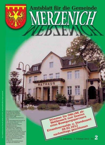 Nr. 02/2012, erschienen am 03.02.2012 - Gemeinde Merzenich