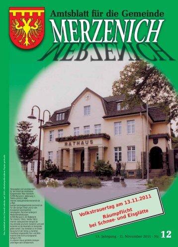 Nr. 12/2011, erschienen am 11.11.2011 - Gemeinde Merzenich