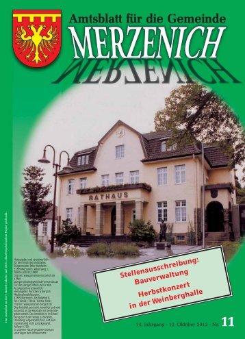 es steht ja im Amtsblatt - Gemeinde Merzenich