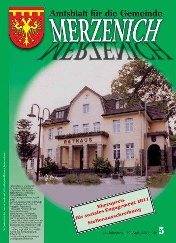Nr. 05/2011, erschienen am 29.04.2011 - Gemeinde Merzenich