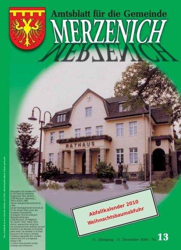 Nr. 13/2009, erschienen am 11.12.2009 - Gemeinde Merzenich
