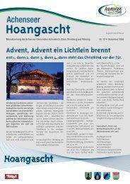 Hoangascht Dezember 2009 - Gemeinde Achenkirch am Achensee ...