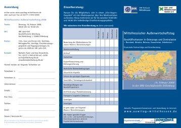 Außenwirtschaftstag 2008 - IHK Gießen Friedberg