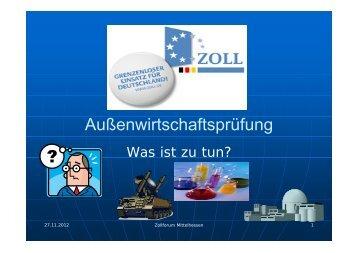 Zollforum Präsentation Englert - IHK Gießen Friedberg