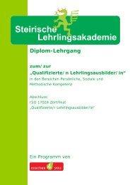Diplom-Lehrgang - Steirische Lehrlingsakademie