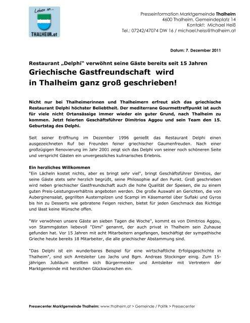 15 Jahre Delphi (175 KB) - Thalheim bei Wels
