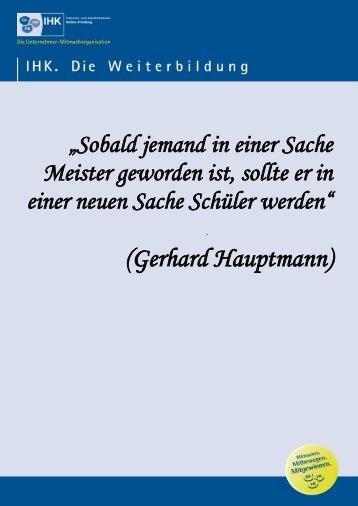 Weiterbildungs-Newsletter Nr. 10 / 2012 - IHK Gießen Friedberg