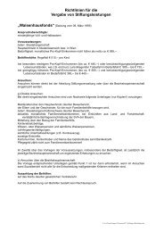 Richtlinien für die Vergabe von Stiftungsleistungen