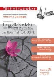 Nr. 24: Dezember 2010 - Februar 2011 - Evangelische ...