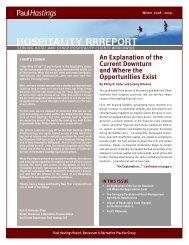 HOSPITALITY RRREPORT - Paul Hastings