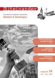 Juni 2008 - Evangelische Kirchengemeinde Ostdorf-Geislingen
