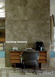 curating memory - ETH Basel