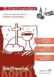 März 2012 - Evangelische Kirchengemeinde Ostdorf-Geislingen