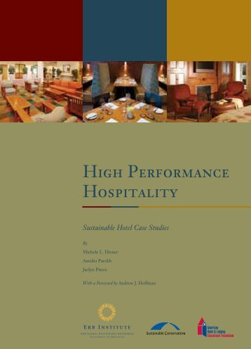 High Performance Hospitality - Sustainable Conservation