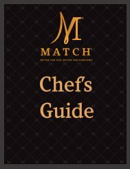 our Chef's Guide. - Match Meats