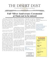october 2012 - The Oasis Shriners