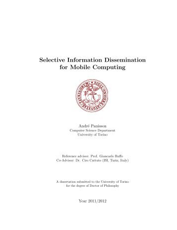 Selective Information Dissemination for Mobile ... - ARCS Group
