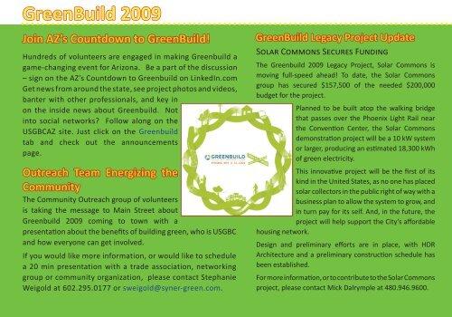 GreenBuild 2009 - USGBC Arizona Chapter