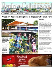 Renfrew-Collingwood Community - Collingwood Neighbourhood ...