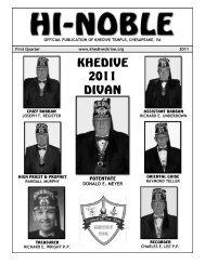 KHEDIVE 2011 DIVAN - Khedive Shriners