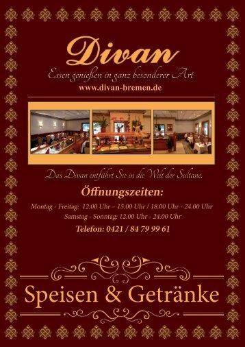 Speisen & Getränke - Divan-Bremen