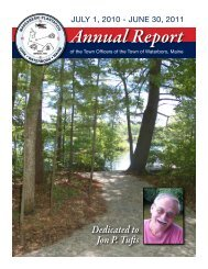Annual Report - Town of Waterboro