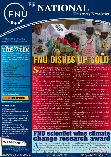 FNU Newsletter Vol2 No 45 Nov 09 2011 - Fiji National University