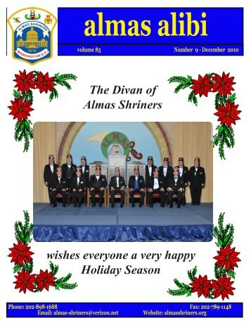 The Divan of Almas Shriners wishes everyone a very happy Holiday ...