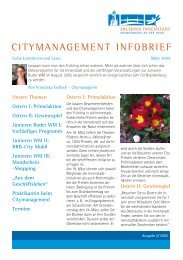 CITYMANAGEMENT INFOBRIEF - NiPP.brandenburg.de - Land ...
