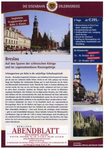 a egnteie - Leserreisen - Berliner Abendblatt