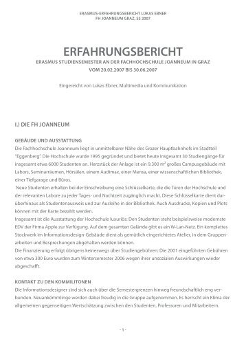 ERFAHRUNGSBERICHT - Hochschule Ansbach