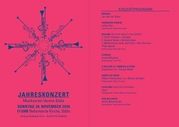 JAHRESKONZERT - Musikverein Verena Stäfa