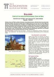 schlesien - Internationale Studienreisen Max A. Klingenstein - Kultur ...