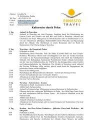 Kulturreise durch Polen 2013 - Kurzurlaub Spezial
