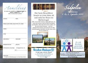 Studienreise 1. bis 8. September 2013 - Ruf zur Versöhnung - Israel