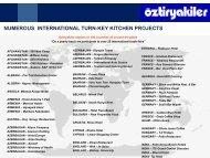 numerous international turn-key kitchen projects - Italasia