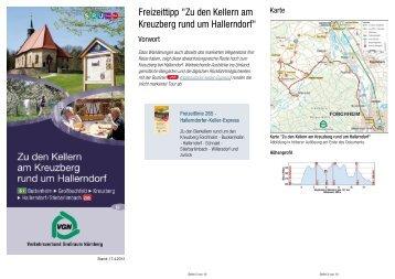 """Freizeittipp """"Zu den Kellern am Kreuzberg rund um Hallerndorf"""""""