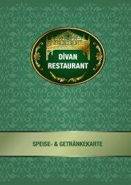 Speise- und Getränkekarte - Divan Stuttgart
