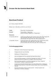 Grosser Rat des Kantons Basel-Stadt Beschluss-Protokoll
