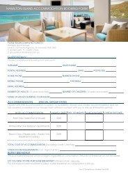 hamilton island accommodation booking form - Outback Car Trek