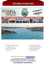 İstanbul Walks 20% discount on tickets purchases.