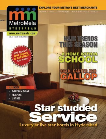 Luxury at five star hotels in Hyderabad - MetroMela
