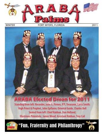 ARABA Elected Divan for 2011 - Araba Shrine Temple