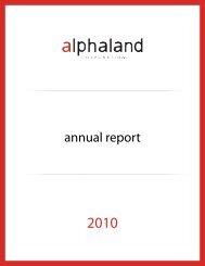 2010 Annual Report - Alphaland Corporate