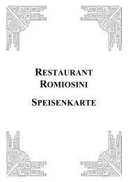 RESTAURANT ROMIOSINI SPEISENKARTE - Schlemmerinfo